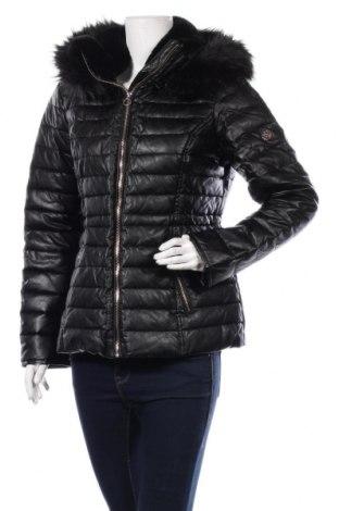 Дамско кожено яке Morgan, Размер M, Цвят Черен, Еко кожа, Цена 141,75лв.