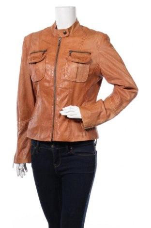 Дамско кожено яке My Own, Размер L, Цвят Кафяв, Естествена кожа, Цена 138,65лв.