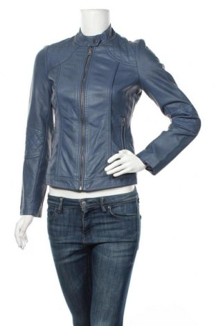 Dámská kožená bunda  Orsay, Velikost XS, Barva Modrá, Eko kůže, Cena  765,00Kč
