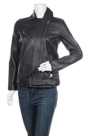 Дамско кожено яке Pepe Jeans, Размер S, Цвят Сив, Естествена кожа, Цена 295,47лв.