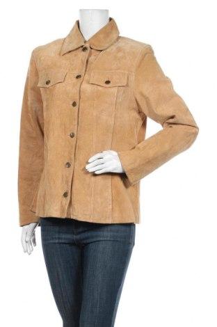 Дамско кожено яке TCM, Размер M, Цвят Бежов, Естествена кожа, Цена 78,80лв.