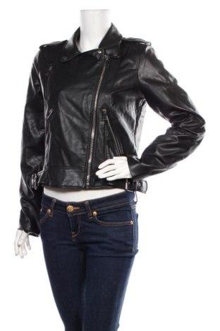 Dámská kožená bunda  Zara, Velikost L, Barva Černá, Eko kůže, Cena  696,00Kč