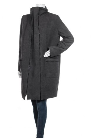 Дамско палто 9 Fashion, Размер M, Цвят Сив, 72% полиестер, 22% вискоза, 6% еластан, 2% полиестер, Цена 104,25лв.
