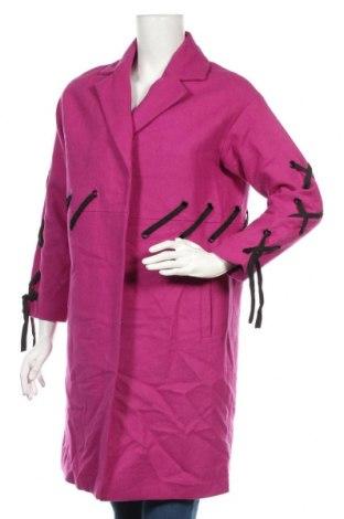 Дамско палто ASOS, Размер S, Цвят Розов, 57% вълна, 26% полиестер, 14% вискоза, 3% полиамид, Цена 77,81лв.