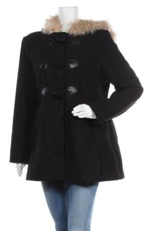 Дамско палто ASOS, Размер XL, Цвят Черен, 89% полиестер, 9% вискоза, 2% еластан, Цена 92,40лв.
