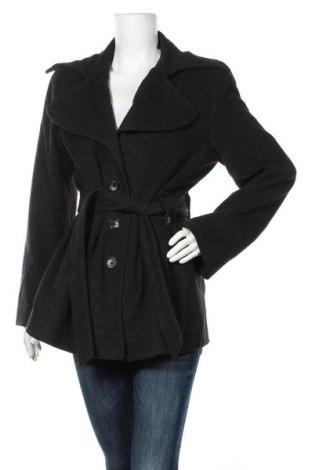 Дамско палто Adagio, Размер M, Цвят Черен, 60% вълна, 20% полиамид, 20% кашмир, Цена 53,24лв.