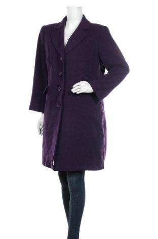 Дамско палто Adagio, Размер L, Цвят Лилав, 60% вълна, 20% полиамид, 20% кашмир, Цена 38,75лв.