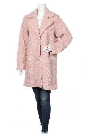 Дамско палто Culture, Размер M, Цвят Розов, 50% вълна, 50% полиестер, Цена 106,40лв.