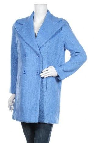Дамско палто FRNCH, Размер S, Цвят Син, 35% вълна, 65% полиестер, Цена 141,75лв.