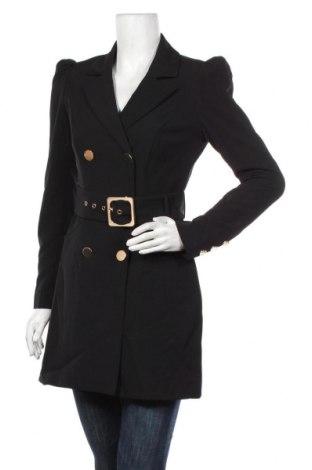 Дамско палто Forever New, Размер S, Цвят Черен, 90% полиестер, 10% еластан, Цена 61,50лв.