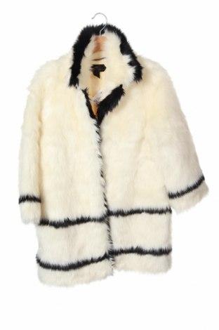 Palton de femei H&M, Mărime XS, Culoare Alb, 85%acril, 15% poliester, Preț 177,63 Lei