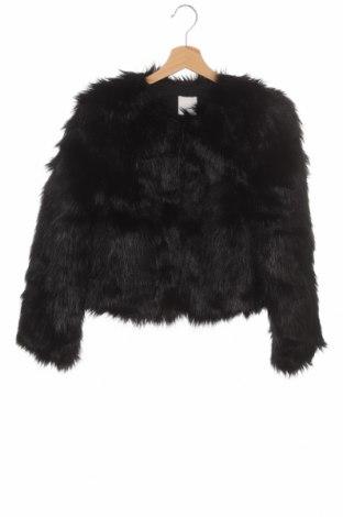 Palton de femei H&M, Mărime XS, Culoare Negru, 83%acril, 17% poliester, Preț 195,30 Lei