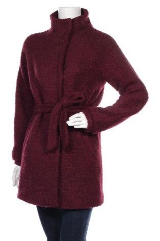 Дамско палто Ichi, Размер S, Цвят Червен, 50% вълна, 50% полиестер, Цена 53,55лв.
