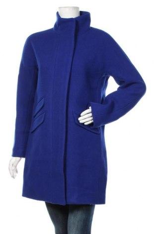 Дамско палто J.Crew, Размер S, Цвят Син, 80% вълна, 20% полиамид, Цена 329,25лв.