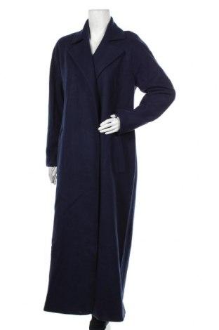 Дамско палто Kiomi, Размер M, Цвят Син, 49% акрил, 47% полиестер, 4% вълна, Цена 91,50лв.