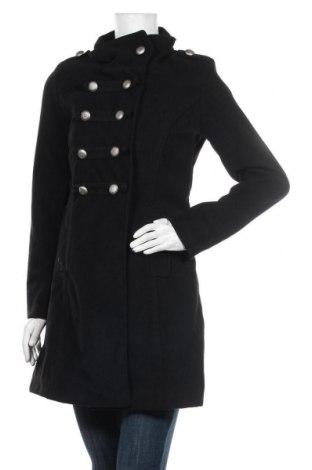 Дамско палто Made In Italy, Размер S, Цвят Черен, 90% полиестер, 10% вълна, Цена 97,30лв.