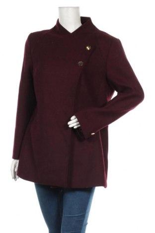 Palton de femei Mint & Berry, Mărime L, Culoare Roșu, 80% poliester, 20% lână, Preț 342,93 Lei