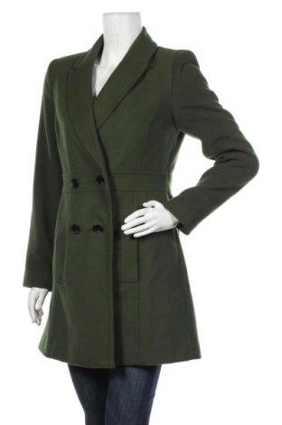 Дамско палто Miss Selfridge, Размер S, Цвят Зелен, 94% полиестер, 5% вискоза, 1% еластан, Цена 111,75лв.
