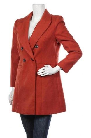 Дамско палто Miss Selfridge, Размер M, Цвят Червен, 95% полиестер, 3% вискоза, 2% еластан, Цена 111,75лв.