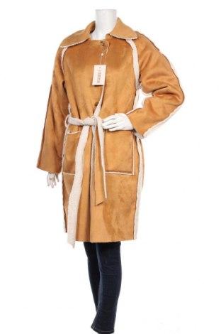 Palton de femei Missguided, Mărime M, Culoare Bej, Poliester, Preț 276,32 Lei