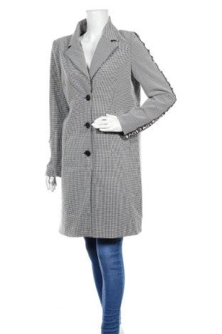 Дамско палто One More Story, Размер L, Цвят Сив, 65% вискоза, 30% полиестер, 5% еластан, Цена 129,35лв.