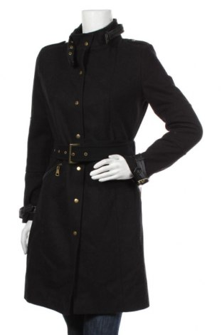 Γυναικείο παλτό River Island, Μέγεθος M, Χρώμα Μαύρο, 50% μαλλί, 50% πολυεστέρας, Τιμή 22,80€