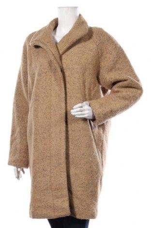 Дамско палто Samsoe & Samsoe, Размер M, Цвят Бежов, 52% полиестер, 48% вълна, Цена 314,25лв.