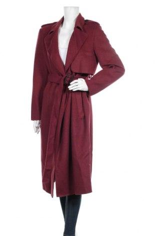 Дамско палто Selected Femme, Размер M, Цвят Червен, 50% вълна, 45% полиестер, 5% други тъкани, Цена 194,25лв.