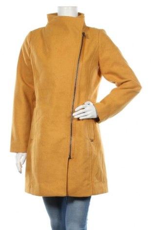 Дамско палто Tom Tailor, Размер M, Цвят Жълт, 61% полиестер, 17% вискоза, 11% вълна, 4% полиамид, 4% полиакрил, 3% памук, Цена 109,85лв.