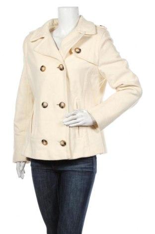 Γυναικείο παλτό Tom Tailor, Μέγεθος XL, Χρώμα Εκρού, 70% μαλλί, 20% πολυαμίδη, 10% κασμίρι, Τιμή 54,56€