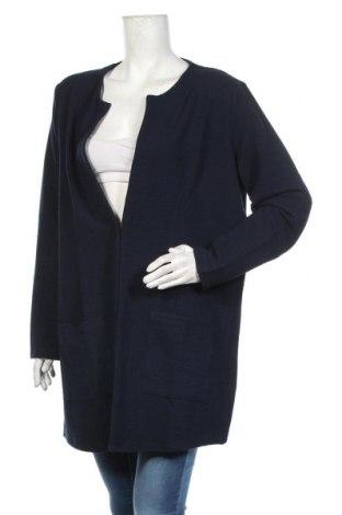Дамско палто Tom Tailor, Размер XXL, Цвят Син, 71% полиестер, 28% вискоза, 1% еластан, Цена 74,25лв.