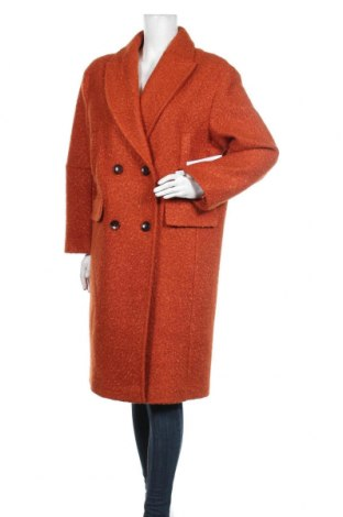 Дамско палто Topshop, Размер XL, Цвят Оранжев, Полиестер, Цена 126,75лв.