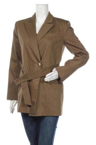 Дамско палто Topshop, Размер S, Цвят Зелен, 76% памук, 21% полиестер, 3% еластан, Цена 111,75лв.