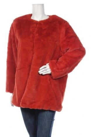 Дамско палто Vero Moda, Размер XXL, Цвят Оранжев, Полиестер, Цена 67,15лв.