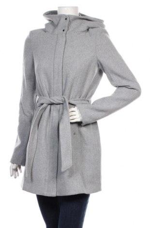 Дамско палто Vero Moda, Размер S, Цвят Сив, 51% полиестер, 31% вълна, 10% акрил, 4% полиамид, 2% памук, Цена 96,75лв.