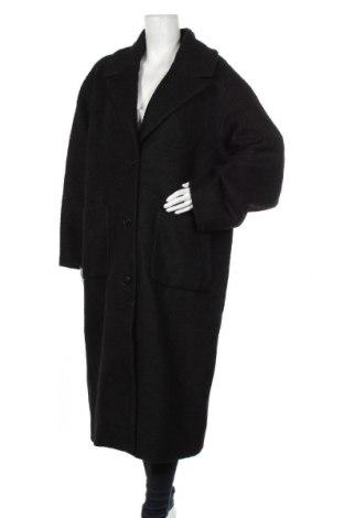 Дамско палто Weekday, Размер L, Цвят Черен, 56% полиестер, 44% вълна, Цена 130,50лв.