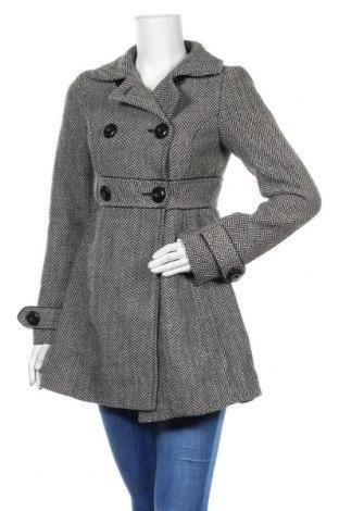 Palton de femei Zara, Mărime S, Culoare Gri, 60% poliester, 30% lână, 10%acril, Preț 179,05 Lei