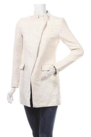 Dámský kabát  Zara, Velikost S, Barva Béžová, 85% bavlna, 11% polyester, 4% jiné tkaniva , Cena  510,00Kč