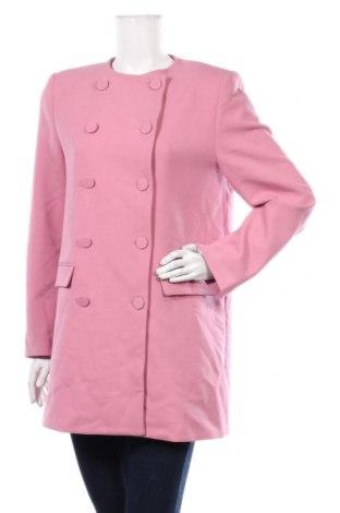 Dámský kabát  Zara, Velikost L, Barva Růžová, 64% polyester, 31% viskóza, 5% elastan, Cena  459,00Kč
