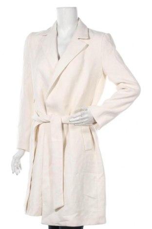 Дамско палто Zara, Размер S, Цвят Екрю, 65% полиестер, 35% вискоза, Цена 96,75лв.