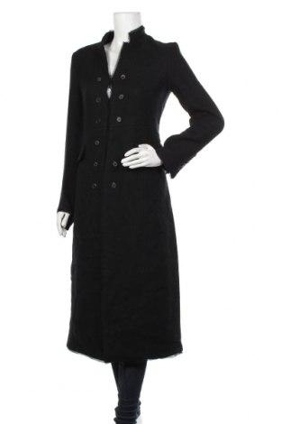 Дамско палто Zara, Размер XS, Цвят Черен, 67% вълна, 33% лен, Цена 171,75лв.