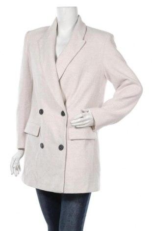 Дамско палто Zara, Размер M, Цвят Бежов, 50% памук, 50% полиестер, Цена 89,25лв.