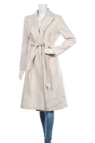 Дамско палто Zara, Размер S, Цвят Бежов, 75% вълна, 25% полиамид, Цена 171,75лв.