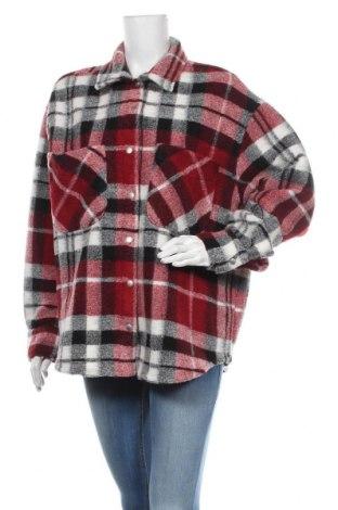 Дамско палто Zara, Размер M, Цвят Червен, 75% полиестер, 13% акрил, 12% вълна, Цена 89,25лв.