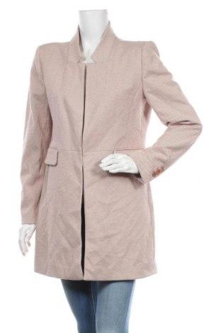 Дамско палто Zara, Размер XL, Цвят Пепел от рози, Полиестер, Цена 76,50лв.