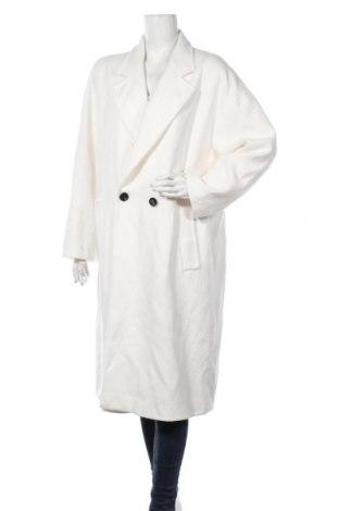 Дамско палто Zara, Размер XL, Цвят Бял, Памук, Цена 89,25лв.