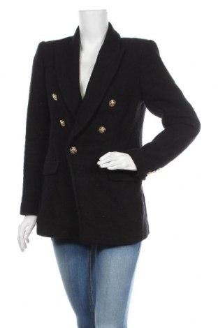Дамско палто Zara, Размер M, Цвят Черен, Памук, Цена 63,00лв.