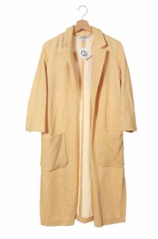 Palton de femei Zara Trafaluc, Mărime XS, Culoare Galben, 72% bumbac, 26% poliester, 2% elastan, Preț 138,16 Lei