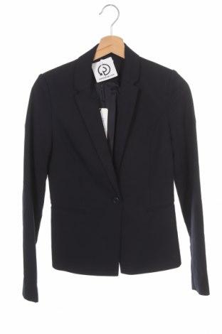 Дамско сако, Размер XS, Цвят Син, 52% памук, 45% полиестер, 3% еластан, Цена 33,04лв.