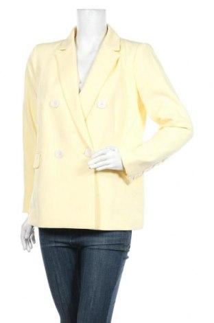 Дамско сако Cortefiel, Размер L, Цвят Жълт, 88% полиестер, 12% еластан, Цена 42,70лв.